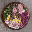 Kate, William und Charlotte wurden aus Schinken und Käse nachgebaut
