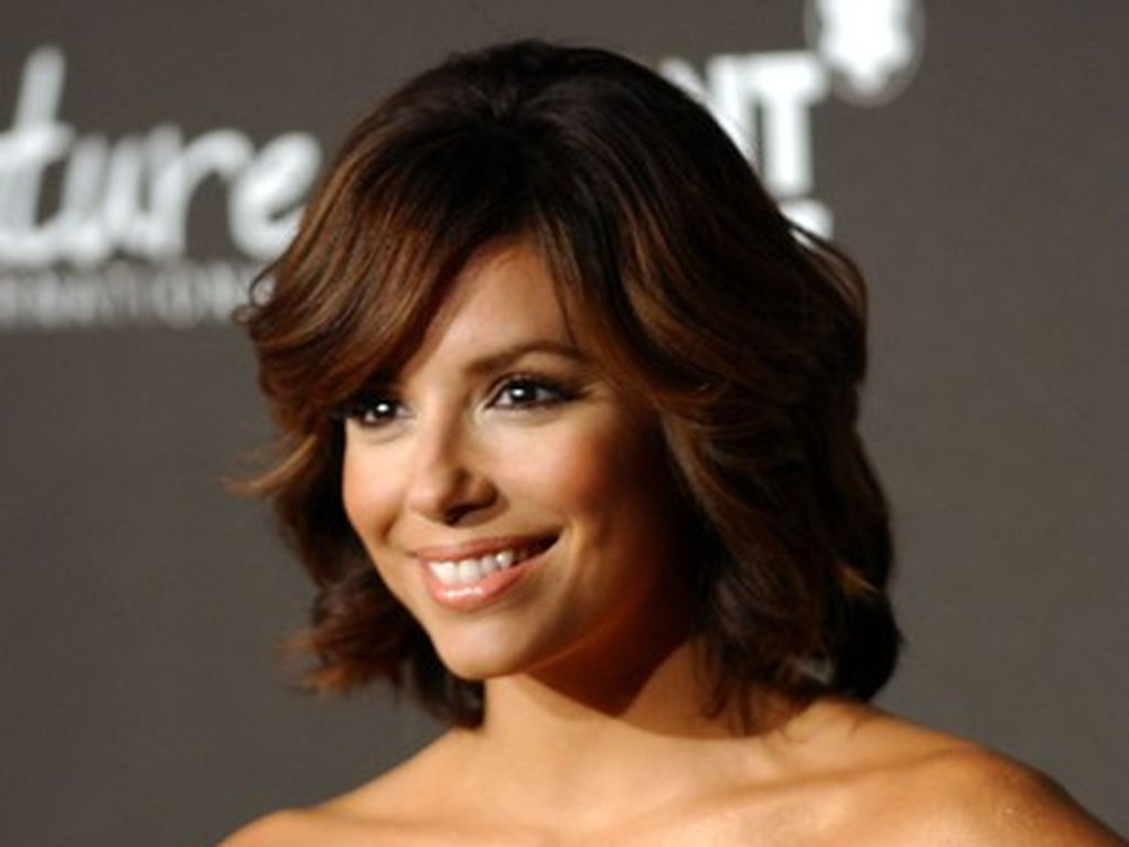 eva longoria mit neuer frisur. Black Bedroom Furniture Sets. Home Design Ideas