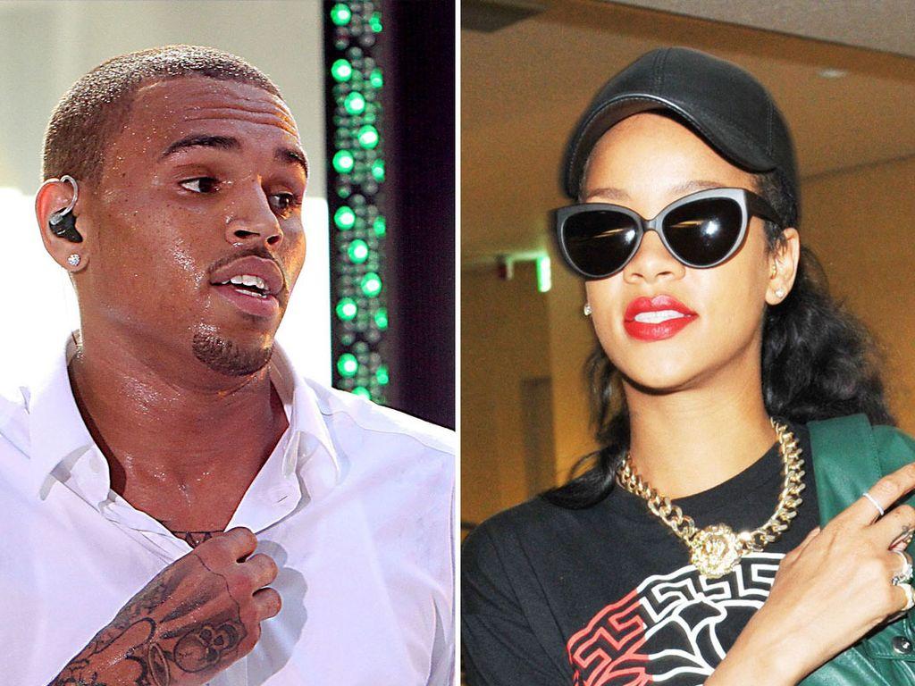 Chris Brown und Rihanna tragen beide eine Kappe