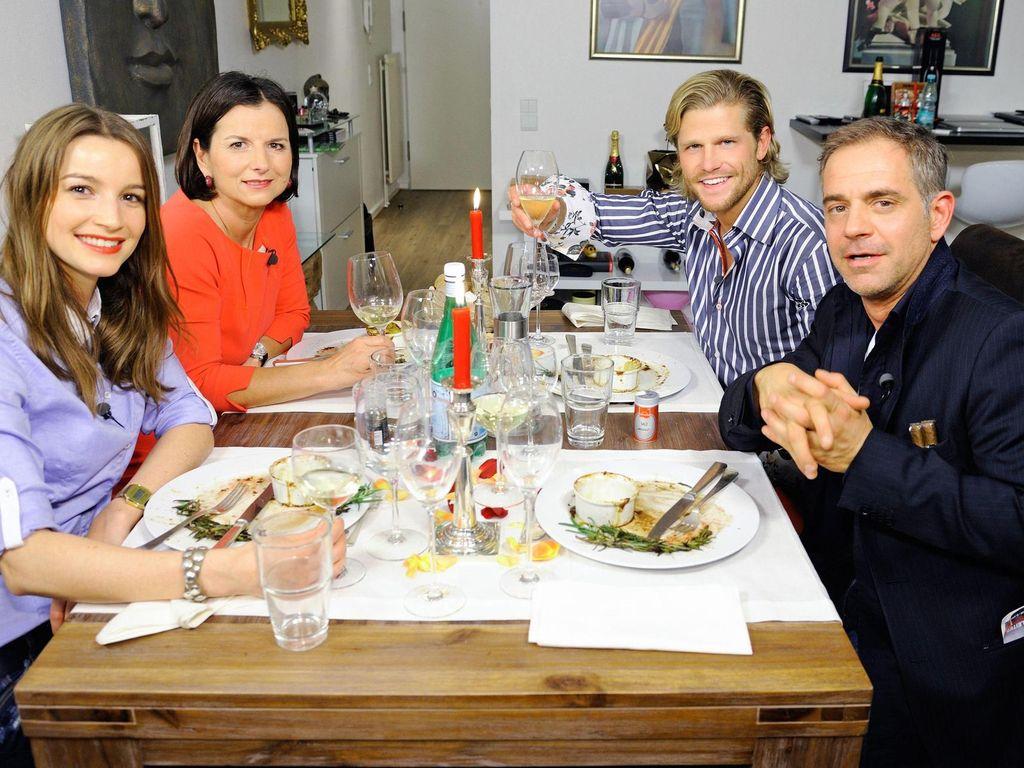 Das perfekte Promi-Dinner beim Essen von Florian