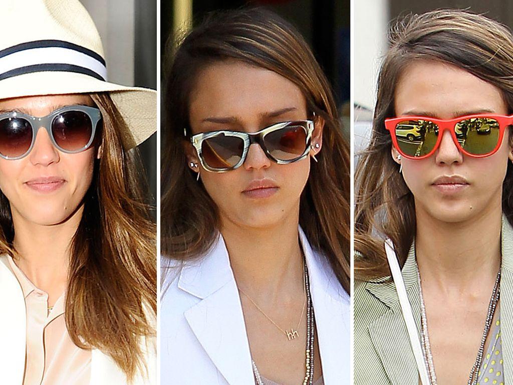 Jessica Alba mit Sonnenbrillen
