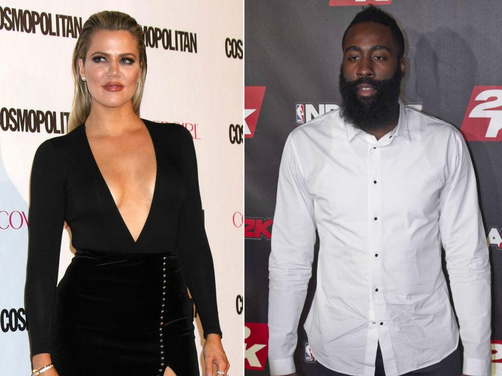 Splash news khloe kardashian und james harden wurden zusammen gesehen