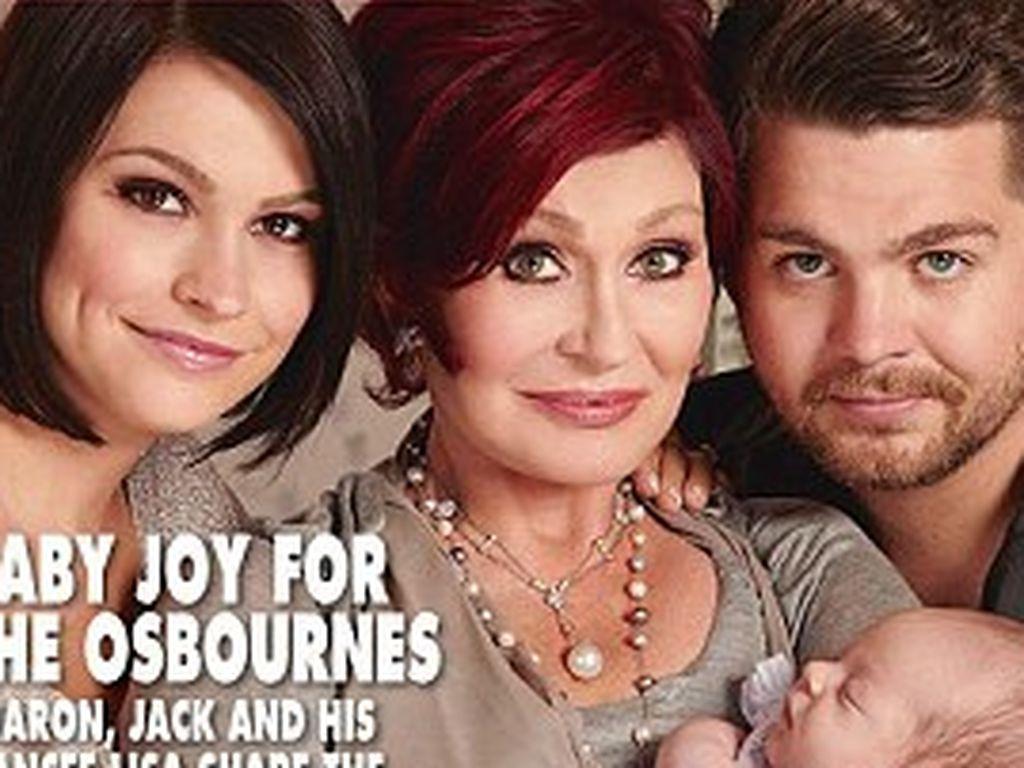 Lisa Stelly, Sharon und Jack Osbourne mit der kleinen Pearl