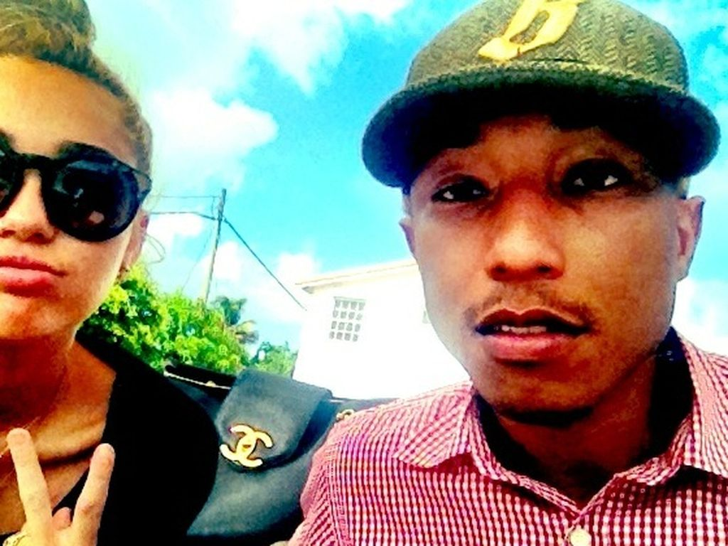 Miley mit Pharrell Williams