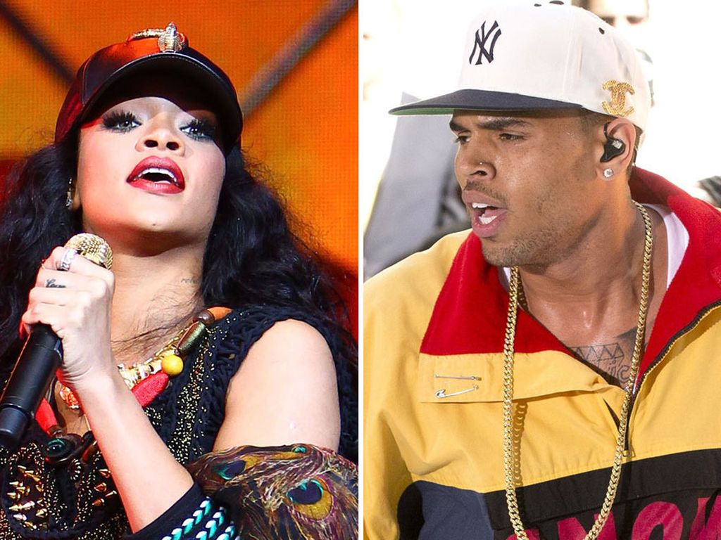 Rihanna und Chris Brown bei ihren Bühnenauftritten