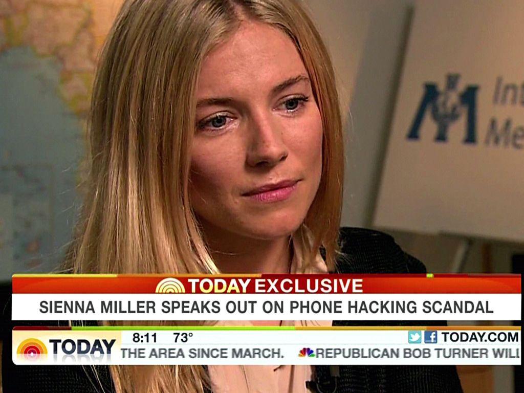Sienna Miller im TV-Interview