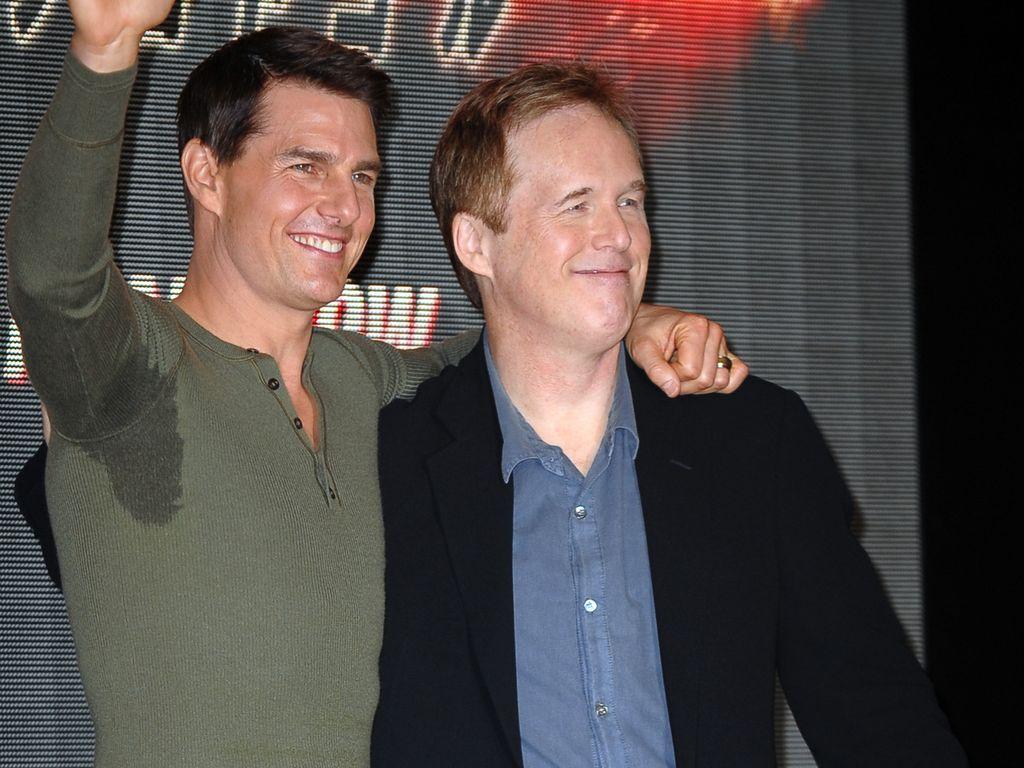 Tom Cruise mit mega-Schweißflecken