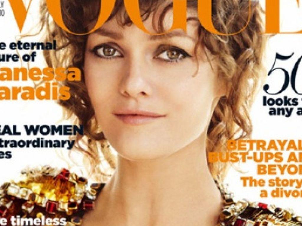 Vanessa Paradis auf dem Cover der britischen Vogue Juli