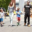 """Mark Wahlberg und Rhea Durham besuchten mit ihren Kindern den """"Safe Kids Day"""""""
