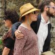 Sienna Miller kombiniert Hut zum Babybauch