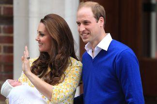 Herzogin Kate und William zeigen ihr Baby