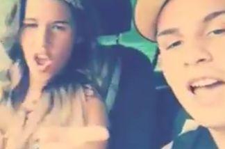 Sarah und Pietro Lombardi singen im Auto und filmen sich dabei