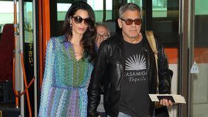 Amal und George Clooney halten Händchen