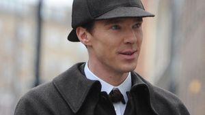 Benedict Cumberbatch mit Sherlock-Mütze