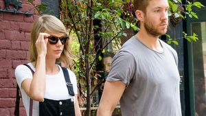 Calvin Harris und Taylor Swift Hand in Hand