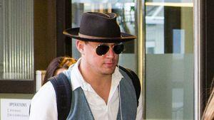 Channing Tatum am Flughafen Tegel