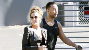 Chrissy Teigen und John Legend nach dem Sport