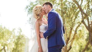 Claire Holt im Brautkleid an ihrem Hochzeitstag