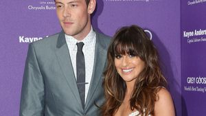 Cory Monteith und Lea Michele auf dem roten Teppich