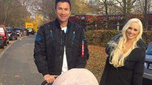 Daniela Katzenberger mit Lucas und Sophia beim Herbst-Spaziergang