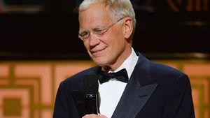 David Letterman blickt nach unten