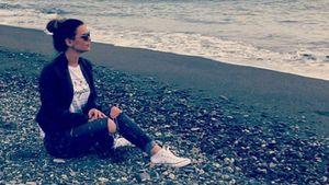 Denise Temlitz am Strand