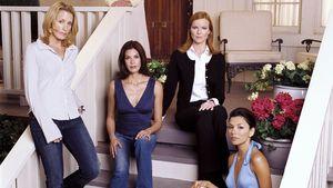 Die Desperate Housewives auf der Treppe