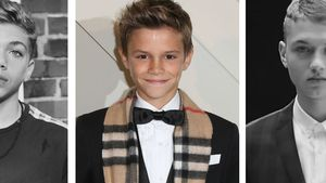 Elias Becker mit Romeo Beckham und Rafferty Law