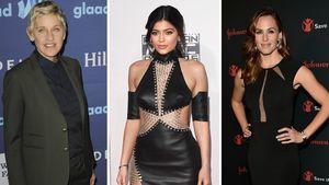 Ellen DeGeneres, Kylie Jenner und Jennifer Garner in einer Collage