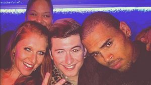 Georgina und Chris Brown hängen ab