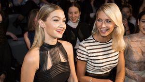 Gigi Hadid sitzt mit Lena Gercke in der Front Row auf der Berlin Fashion Week