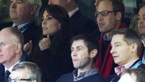 Herzogin Kate und Prinz William beim Rugby