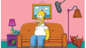 Homer Simpson mit Mikrofon