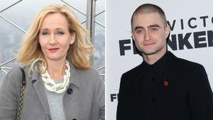 J.K. Rowling und Daniel Radcliffe in einer Collage