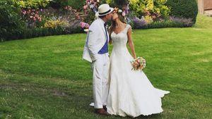 Jacqui Ainsley und Guy Ritchie am Tag ihrer Hochzeit
