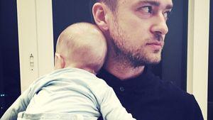 Justin Timberlake mit seinem Sohn Silas