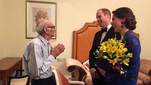 Kate und William mit 93-Jährigem in Indien