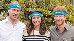 Kate WIlliam und Harry mit Stirnbändern
