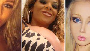 Kim Gloss, Sheyla Hershey und Valeria Lukyanova sehen operiert aus