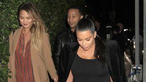 Kim Kardashian mit Chrissy Teigen und John Legend