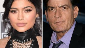 Kylie Jenner und Charlie Sheen in einer Collage