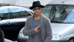 Lewis Hamilton auf der Pariser Fashion Week