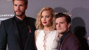 Liam Hemsworth, Jennifer Lawrence und Josh Hutcherson bei der Hunger Games Premiere in London