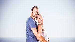 Meike und Marcel auf einer Klippe