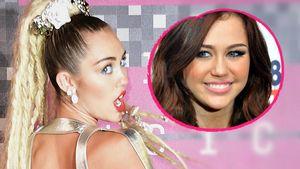 Miley und Miley früher Collage