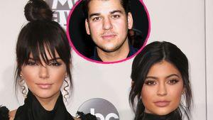 Robert Kardashian mit Kylie und Kendall Jenner