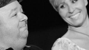 Sonja Zietlow und Dirk Bach schwarz weiß