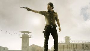The Walking Dead-Rick mit Waffe