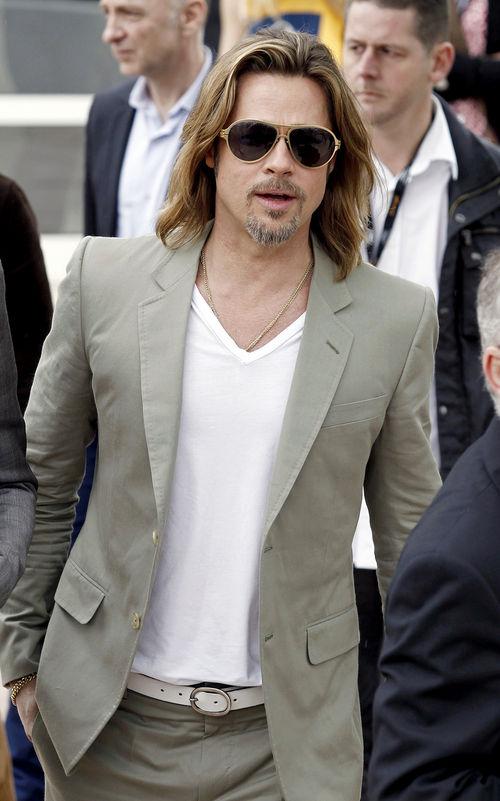 Brad Pitt kam im sommerlichen Style nach Cannes