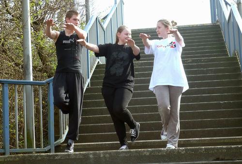 Peter, Sarah-Jane und Sarafina wollen sich gemeinsam fit machen